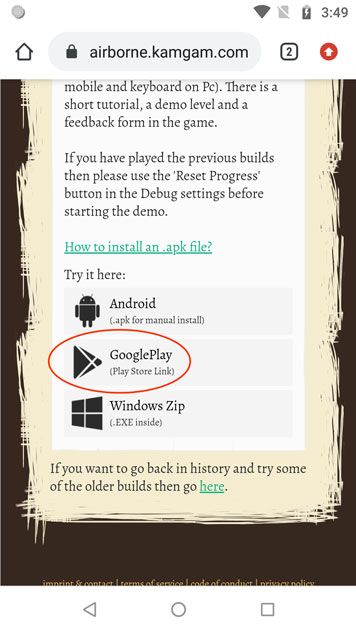 Install an internally shared google play android app